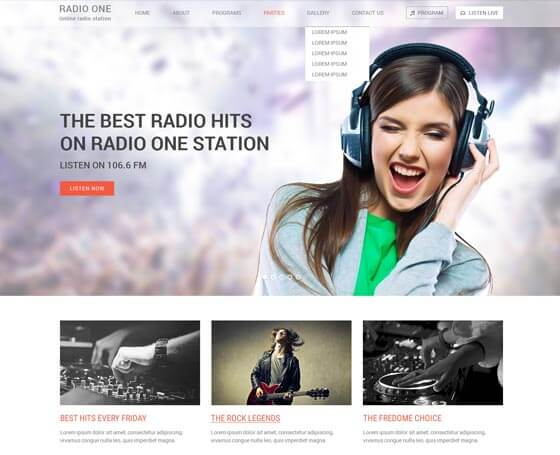 Radio One WordPress Theme