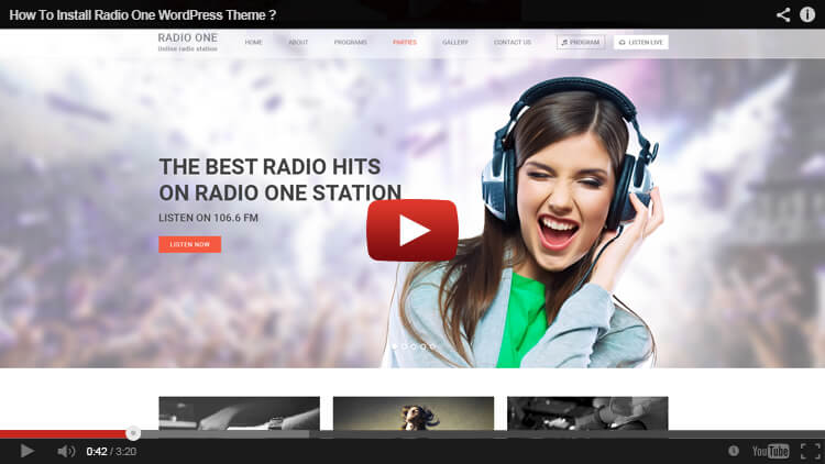How to install Radio One WordPress Theme