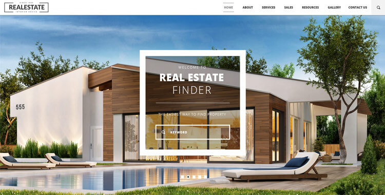 Real Estate - Free Bootstrap Template