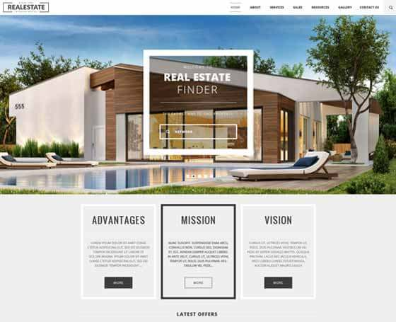 Real Estate - Free Bootstrap Theme
