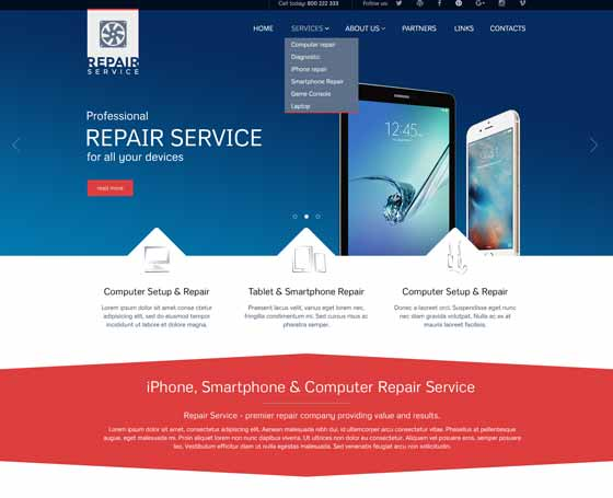 Repair Service Joomla Theme