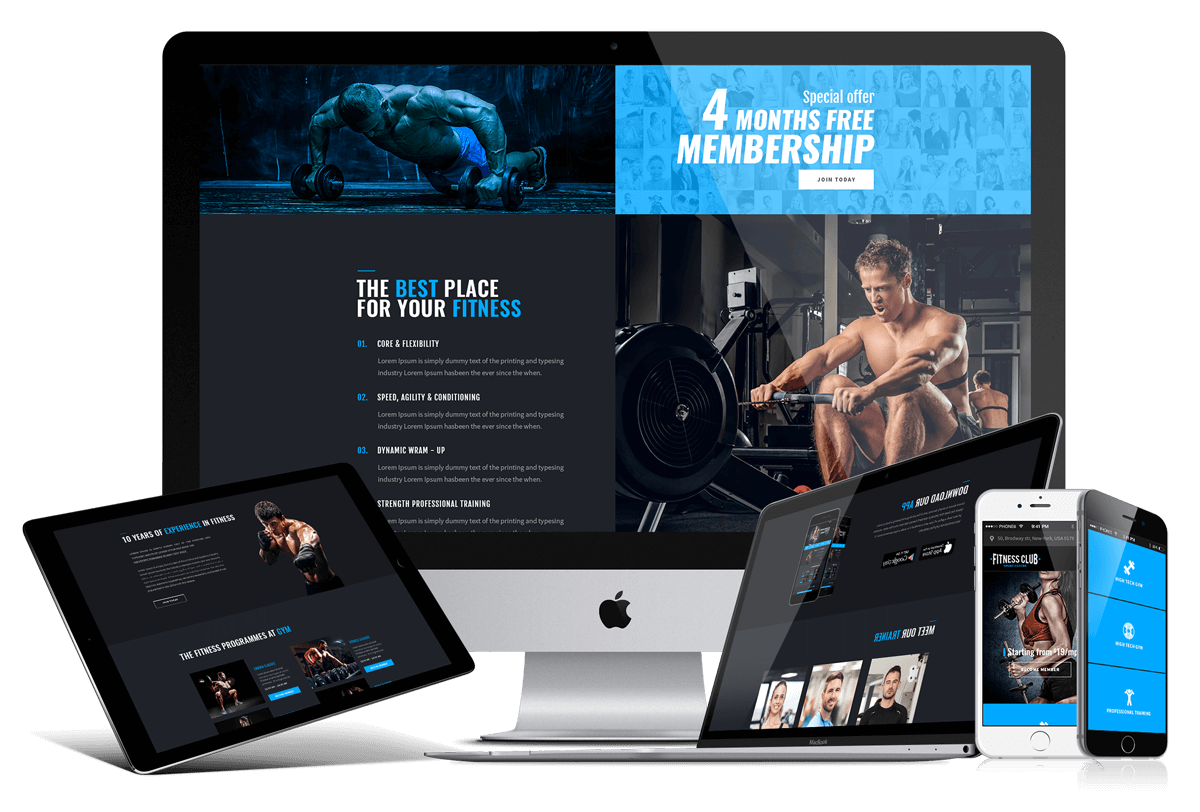GYM, FITNESS CLUB - bootstrap 4 theme