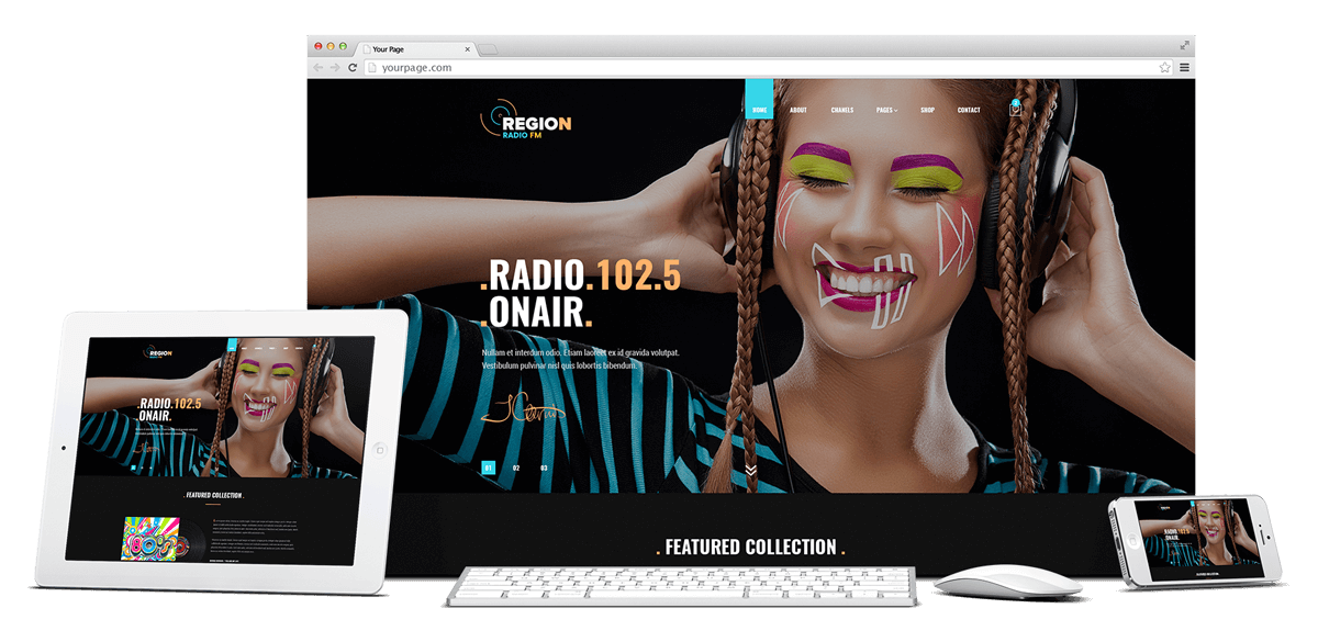 Region Radio FM - Bootstrap 4 website template