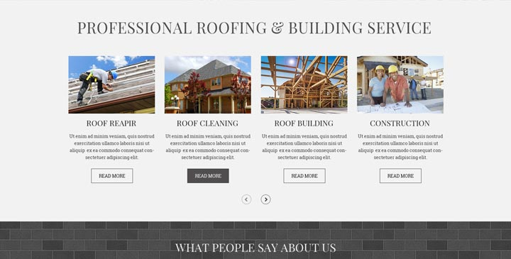 Roofing HTML Bootstrap Template