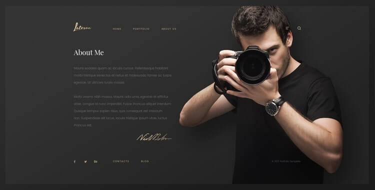 laterna photographer template