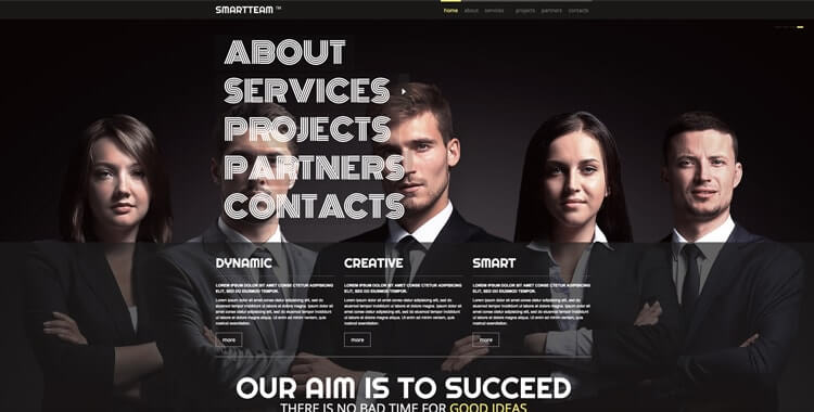 Smart Team free bootstrap template