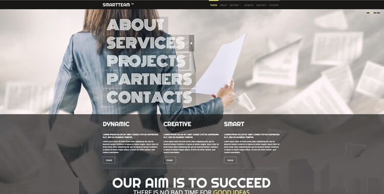 Smart Team free bootstrap website template