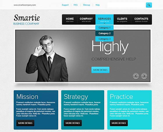 Smartie Business - Free WordPress Theme