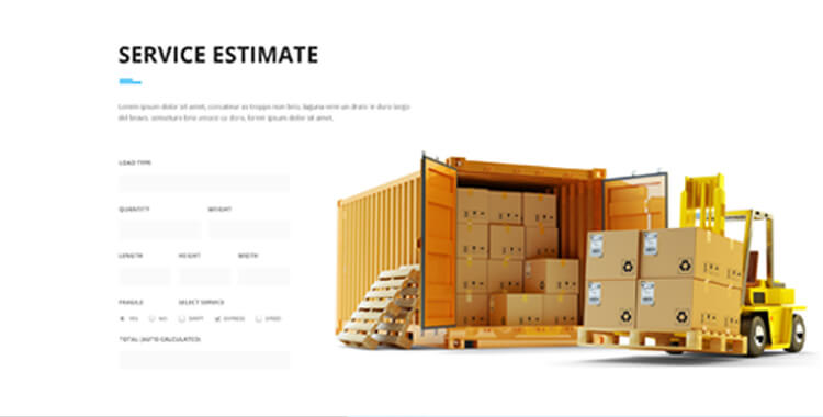Logistic WordPress Template