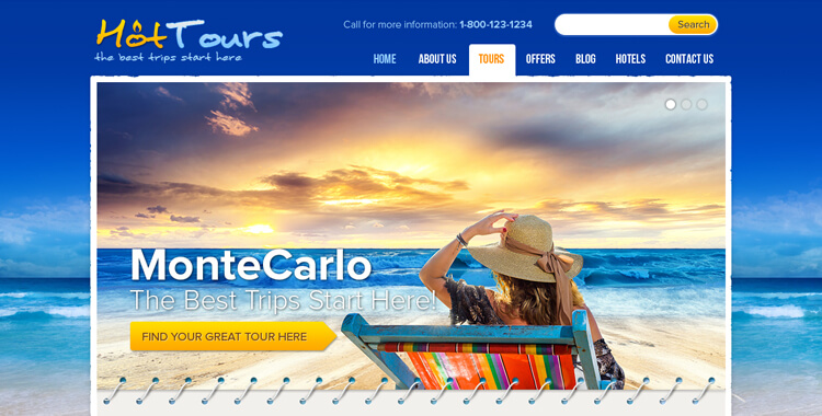 Travel Agency - Free WordPress Template