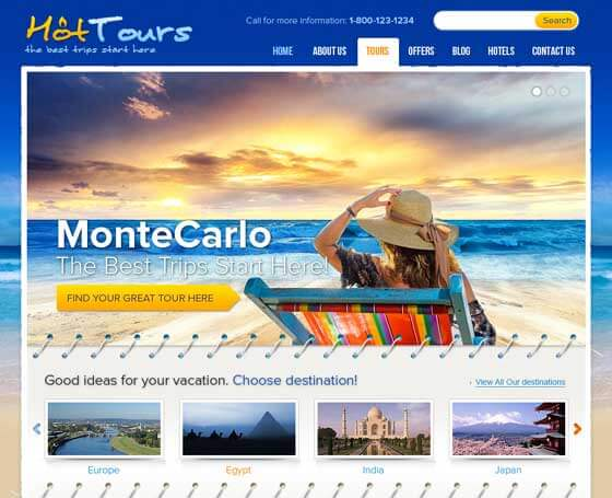 Travel Agency - Free WordPress Theme