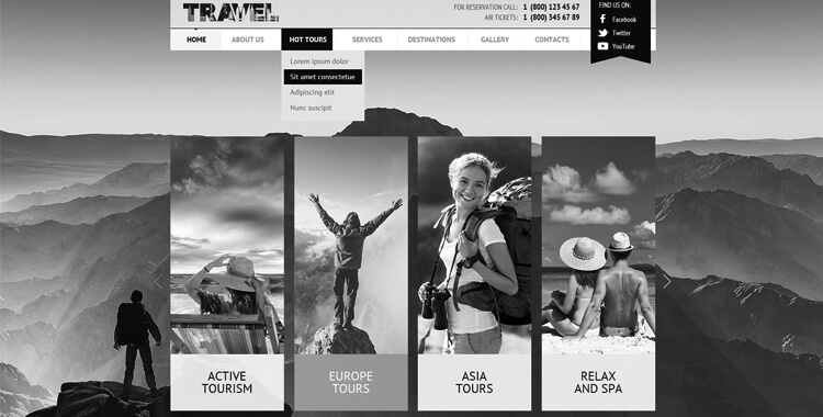 free travel joomla website template