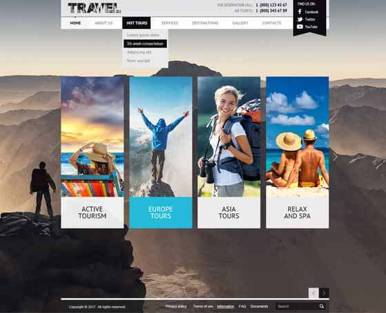 free travel joomla theme