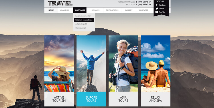 free travel joomla template