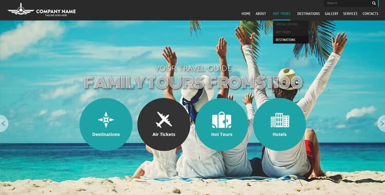 Travel free bootstrap website template