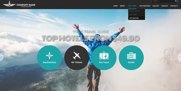 Travel free bootstrap html template