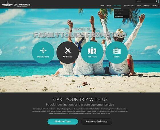 Travel free bootstrap template