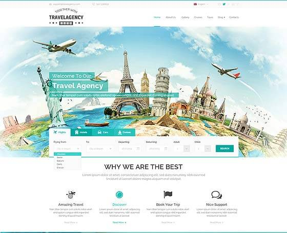 WordPress Travel Templates | Gridgum