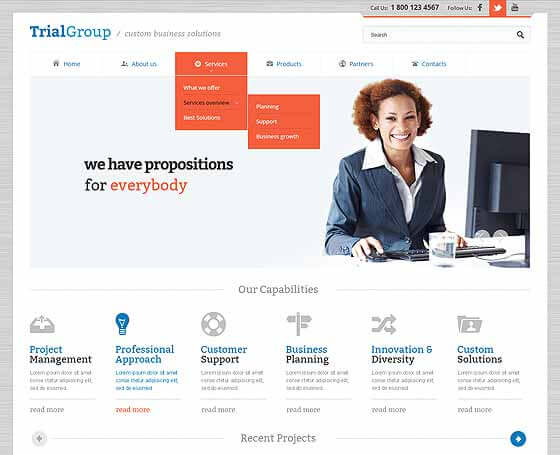 Trial group free bootstrap theme
