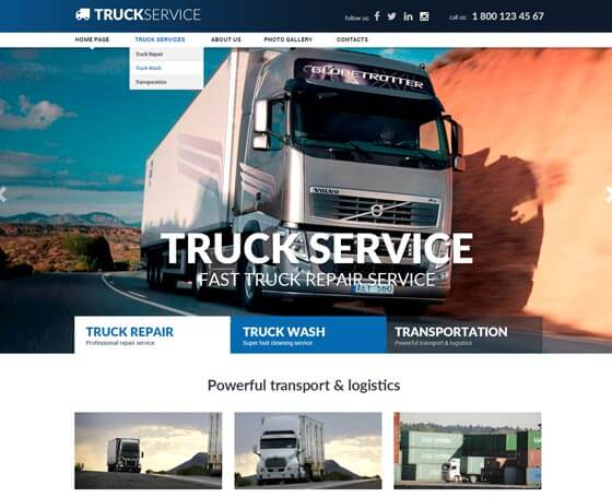 Truck Service Bootstrap Theme