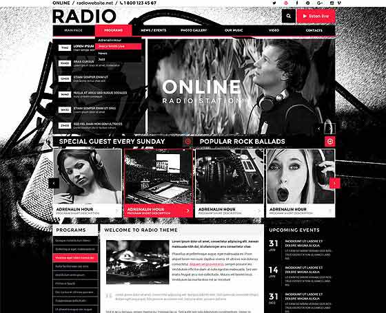 wordpress radio station theme