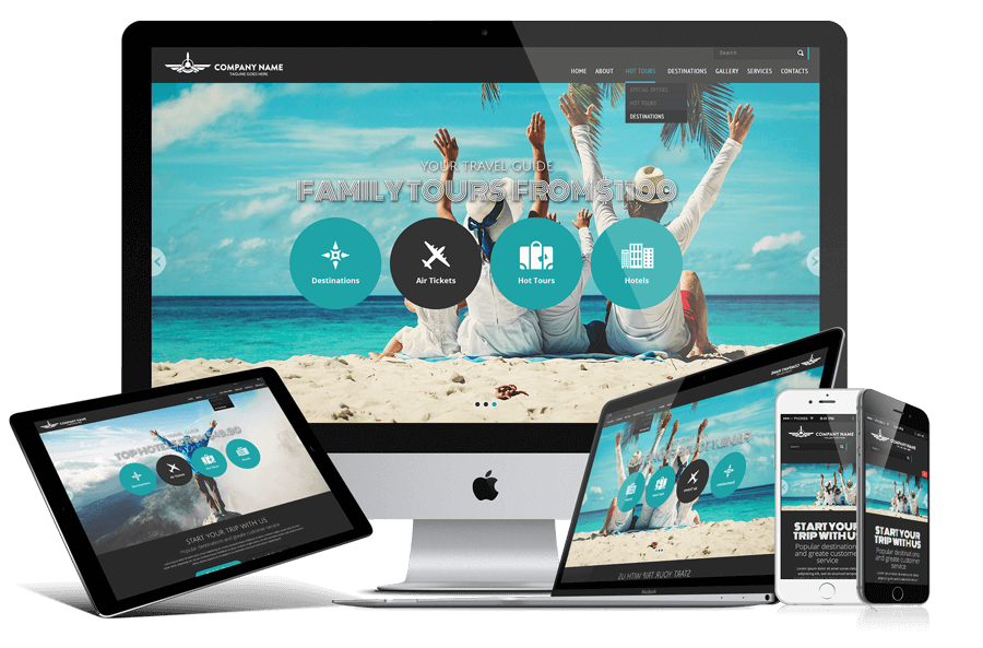 Travel agency Free bootstrap website template | Gridgum