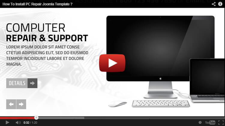 HOW TO INSTALL PC REPAIR JOOMLA TEMPLATE