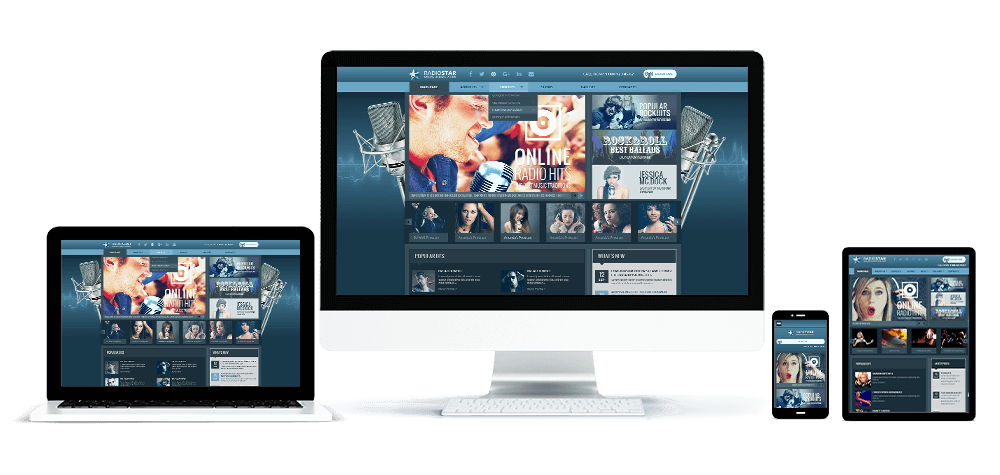 WordPress Radio Theme Responsive screen