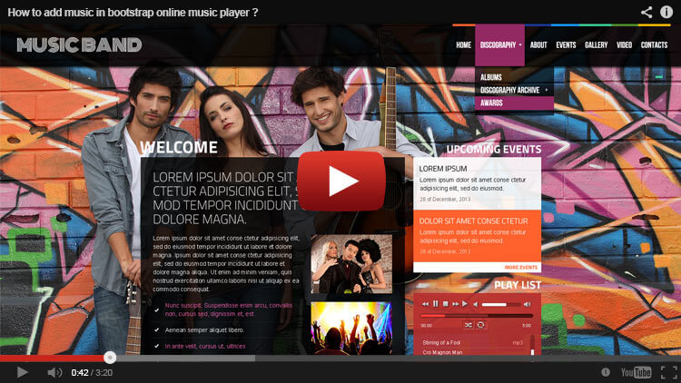 HOW TO ADD MUSIC IN BOOTSTRAP ONLINE MUSIC PLAYER