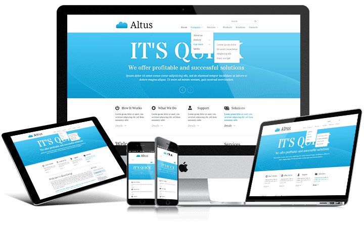 Altus - responsive free bootstrap theme
