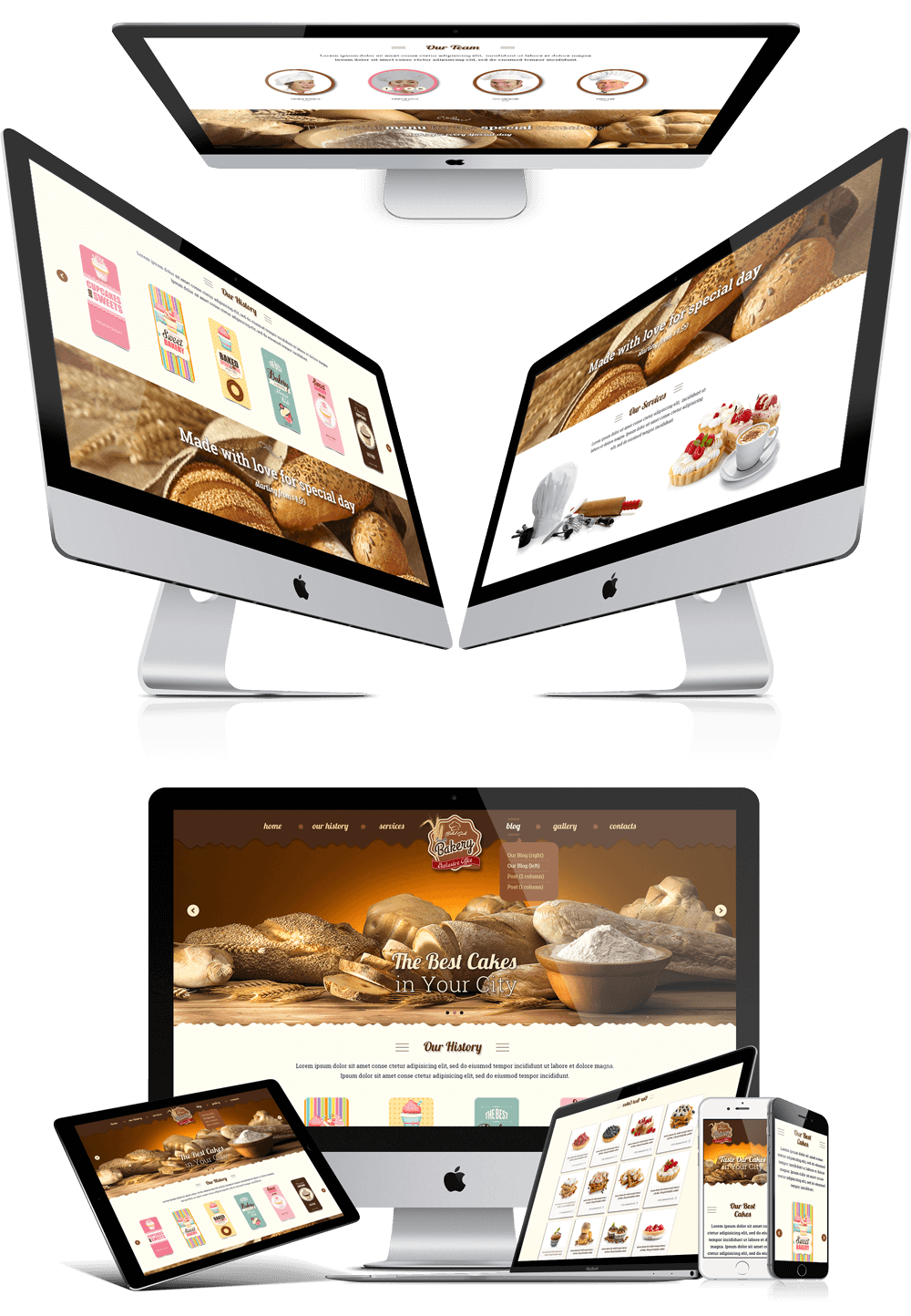 bakery responsive bootstrap website template
