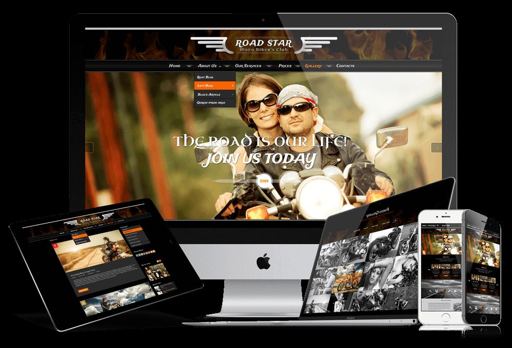 biker club responsive bootstrap theme