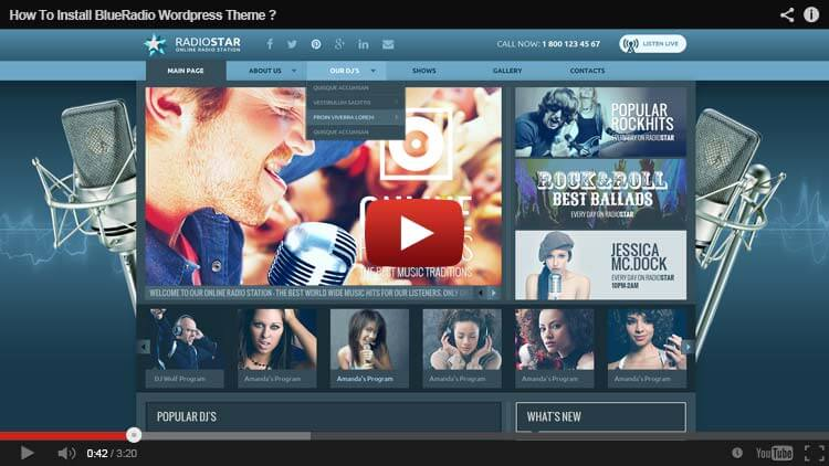 HOW TO INSTALL BlueRadio WORDPRESS THEME