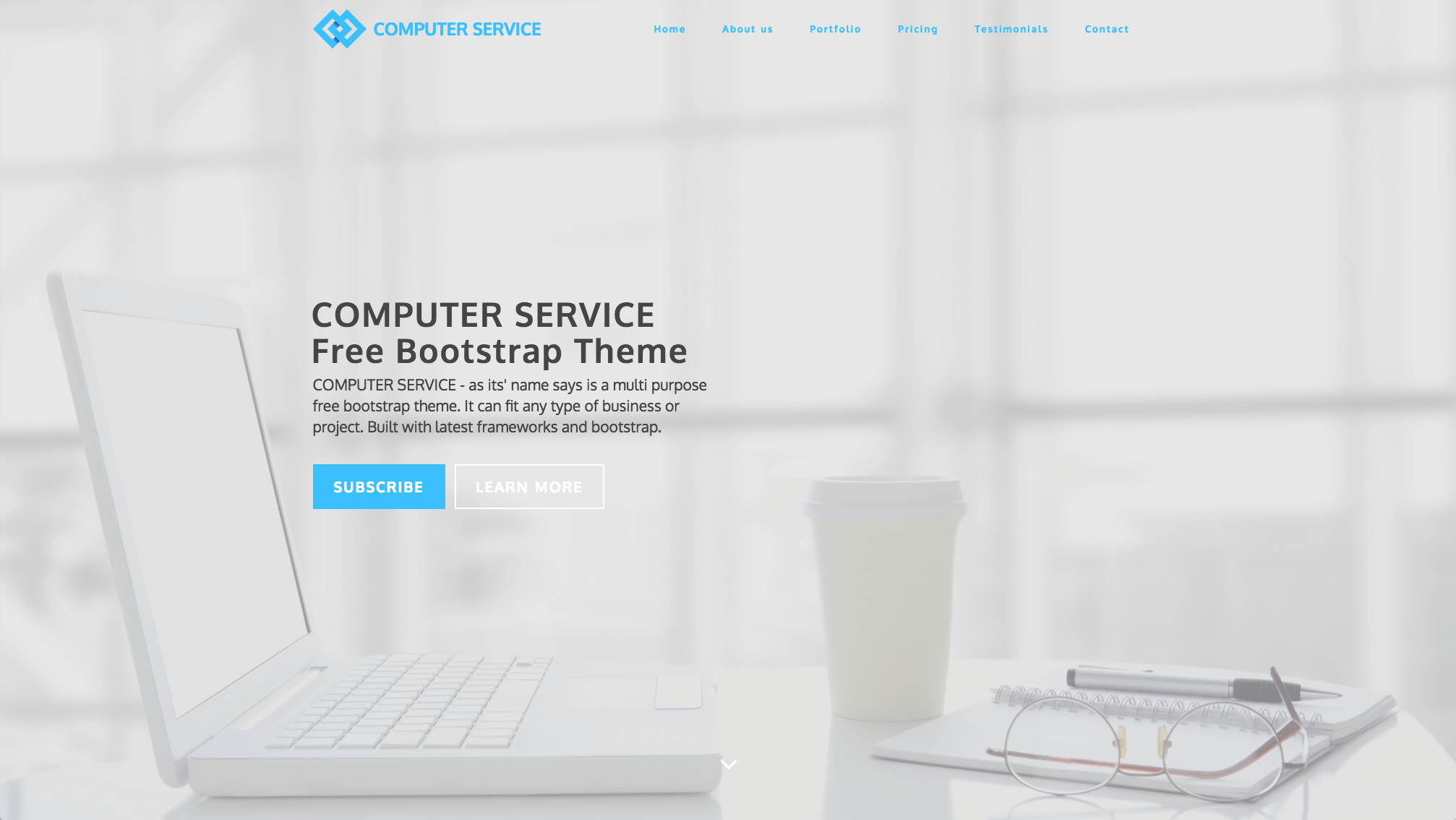 Computer Service Free Bootstrap Template