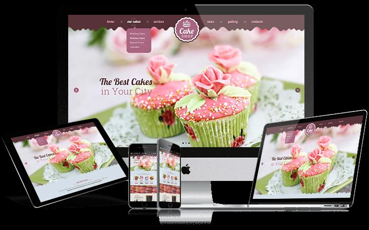 Cupcake premium bootstrap theme