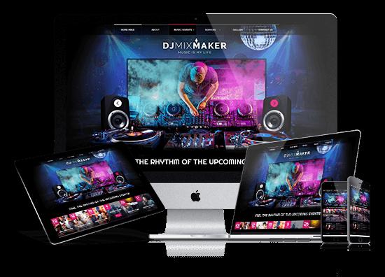 DJ MixMaker responsive bootstrap theme