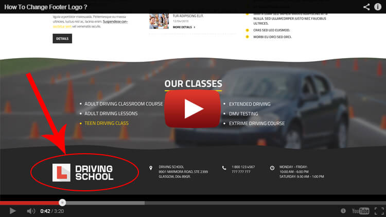 driving school wordpress installation
