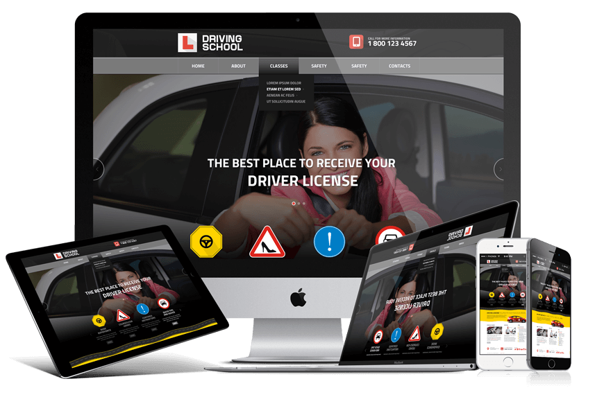 Driving school responsive bootstrap theme