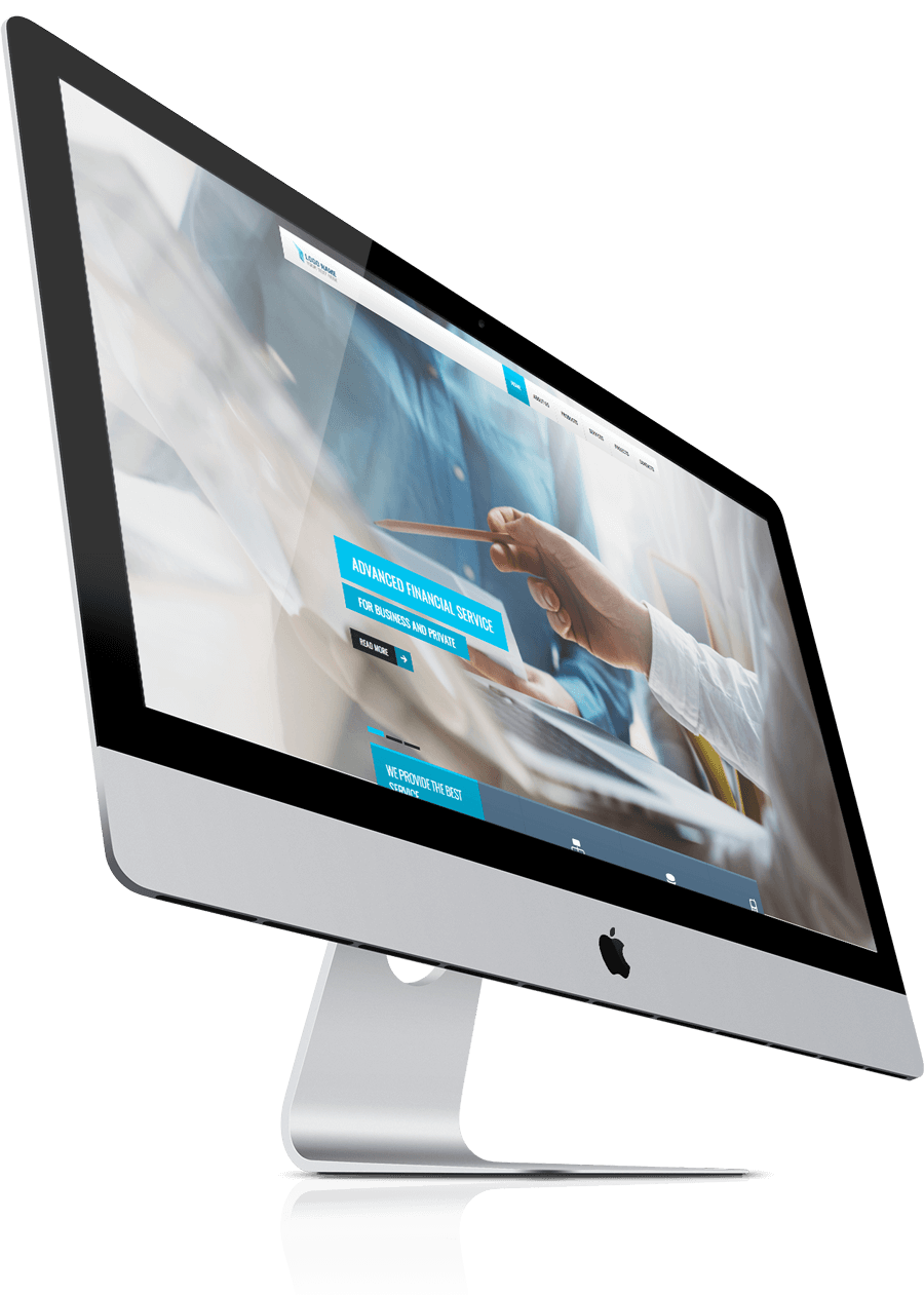 iMAc screen for free bootstrap theme