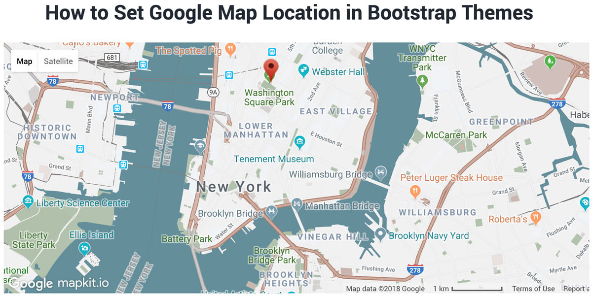 How to set google map location