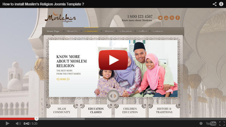 HOW TO INSTALL MUSLIM RELIGION JOOMLA TEMPLATE