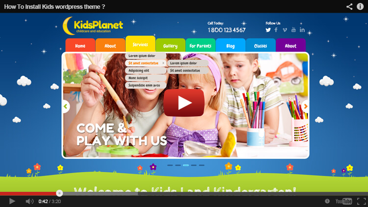 Kids WordPress Theme Installation