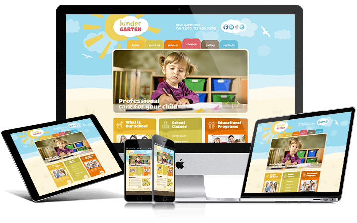 Kindergarten Responsive screen