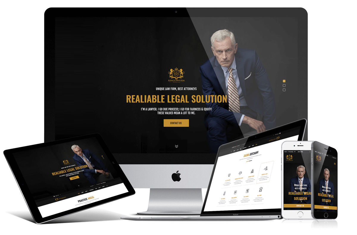 King Law Firm - PSD (photoshop) Template