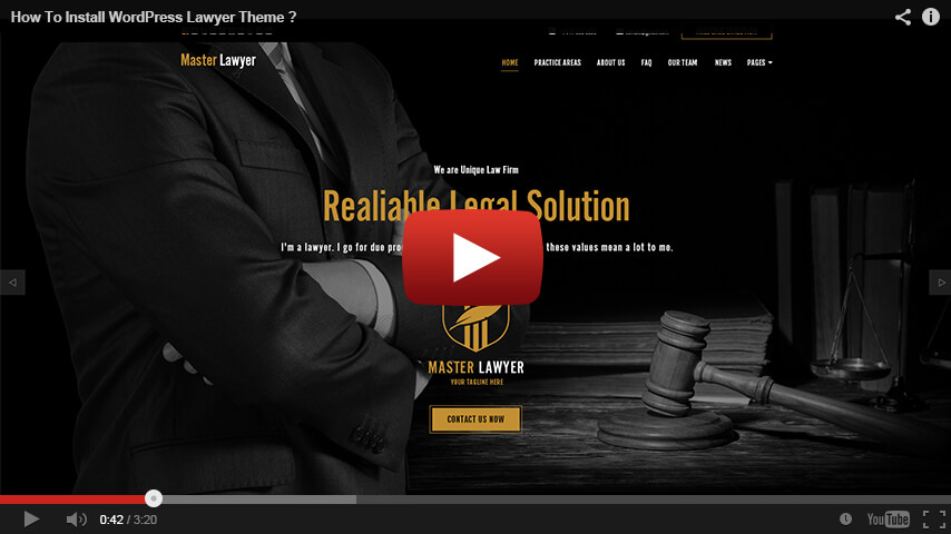 Lawyer WordPress Theme, Master Lawyer WordPress Template