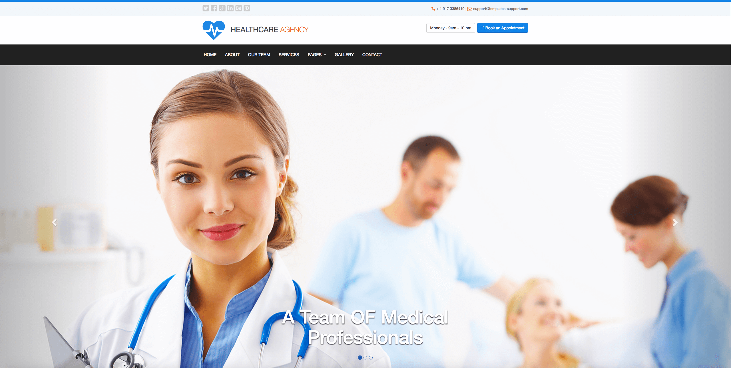 Medical Free Bootstrap Template