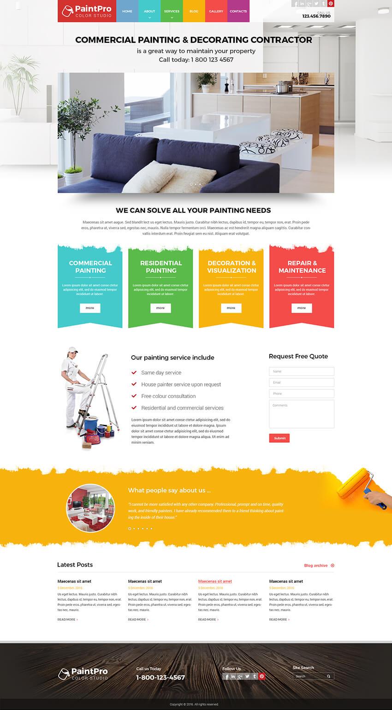 painting templates painting website template gridgum. Black Bedroom Furniture Sets. Home Design Ideas