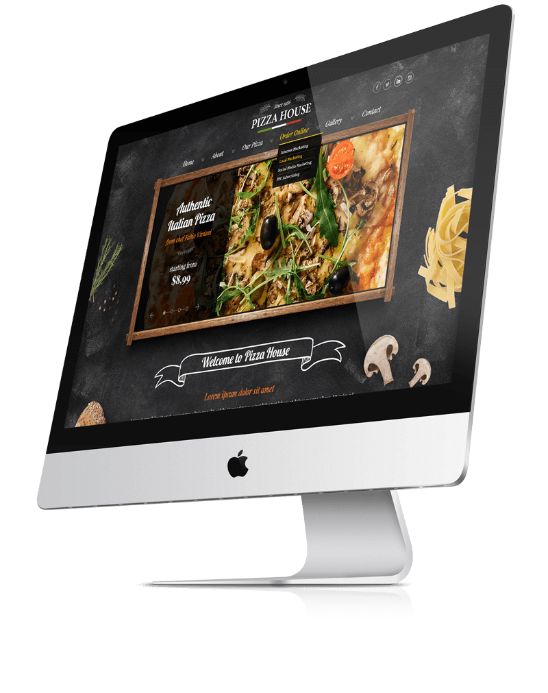 Pizza House Premium bootstrap theme