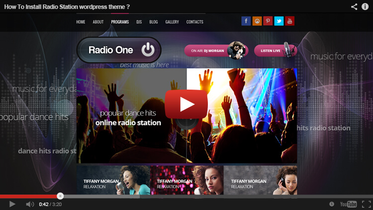 Radio Station wordpress installation