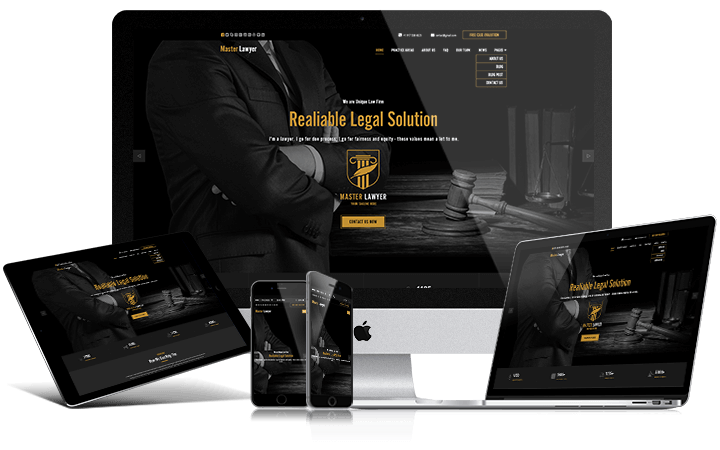 Master Lawyer HTML Bootstrap Template - 1